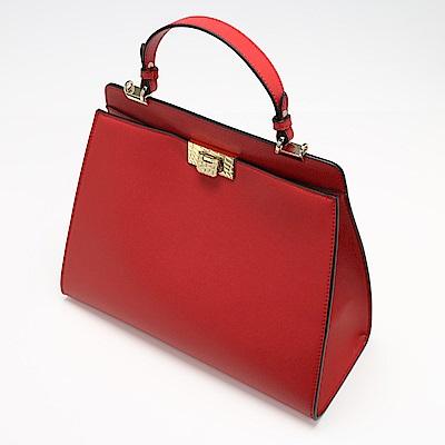 Charmii Chic 精緻轉釦兩用提包-大版 紅色
