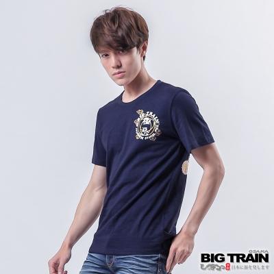 BIG-TRAIN-極惡嬉鬧赤青鬼圓領T-男-丈青
