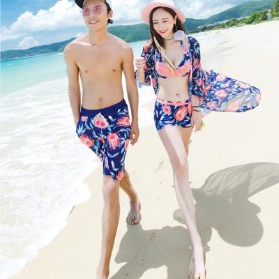 Biki比基尼妮   粉色海外套式情侶泳衣男泳褲(男生購買區)