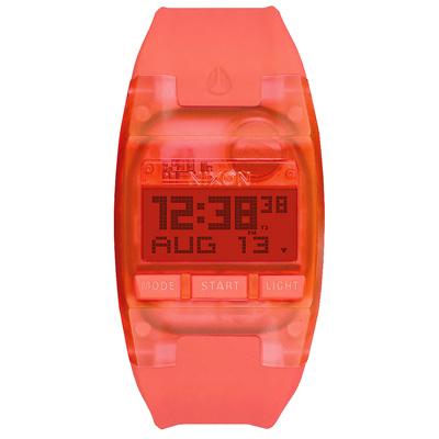 NIXON COMP S 浪花海潮休閒運動電子錶-螢光橘x小/31mmX26mm