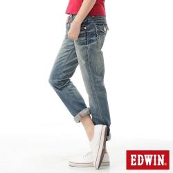 EDWIN BLUE TRIP袋蓋個性牛仔褲-女款-拔淺藍