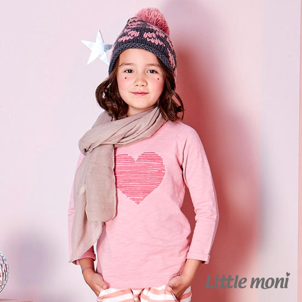 Little moni 愛心刺繡上衣 (共2色)