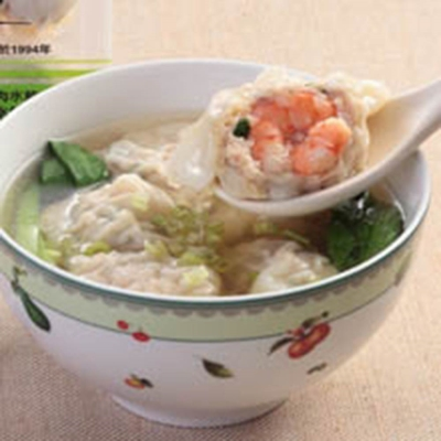 台北士東市場123水餃 鮮蝦大餛飩(10顆/盒)