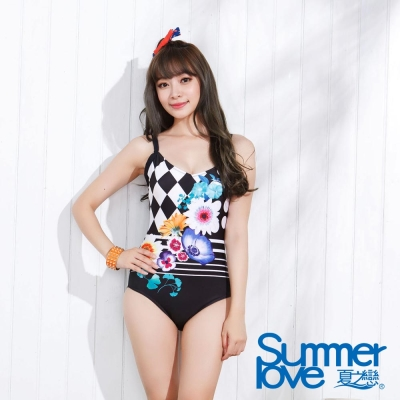 夏之戀SUMMER LOVE 知性淑女連身三角泳衣