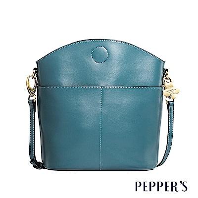 PEPPER`S  Norah 真皮斜背包 - 礦石藍