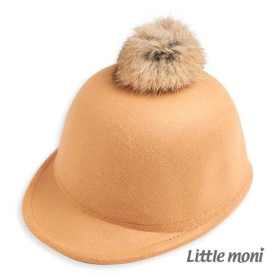 Little-moni-球球馬術帽-駝色