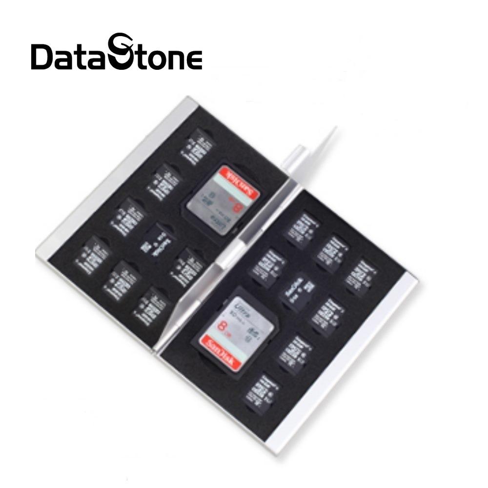 Datastone 18片裝雙層多功能記憶卡鋁合金收納盒(2SD+16TF)