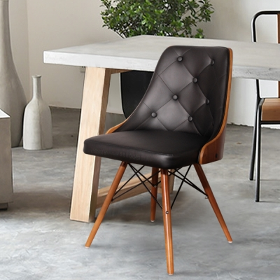 Simona西蒙娜單椅 (拉扣皮質)-黑-DIY