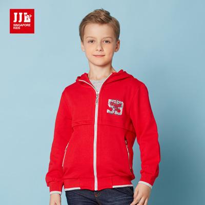 JJLKIDS 美式學院風休閒外套(鮮紅)