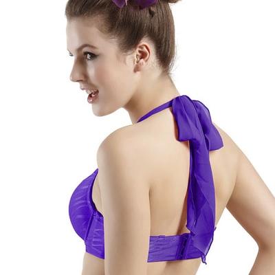 Emon 魔幻善變 雪紡綁帶繞頸肩帶(紫藍)