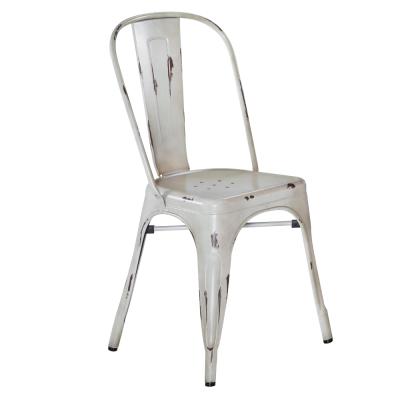 品家居 巴黎工業風仿舊餐椅(兩色可選)-44x47x86cm-免組
