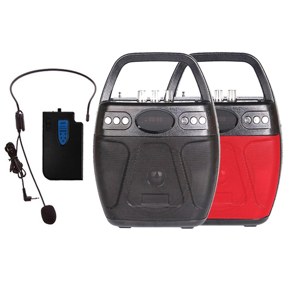 大聲公巧圓型無線式多功能行動音箱/喇叭 (耳掛麥克風組)