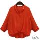 七分蝙蝠袖寬鬆棉麻上衣 共三色 TATA