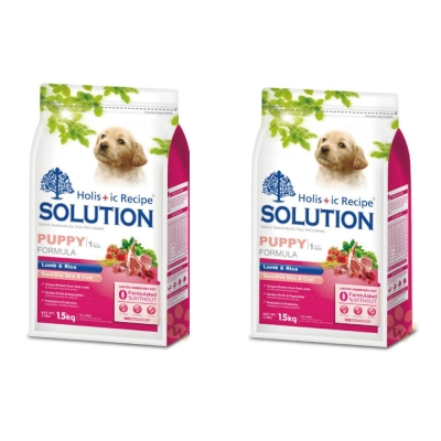 耐吉斯SOLUTION 幼犬 羊肉田園蔬菜配方1.5kg  (2包組)
