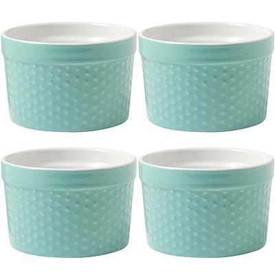 NOW Dotty陶製布丁烤杯4入(綠)