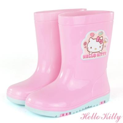 HelloKitty-甜點系列高彩高辨識安全雨鞋童