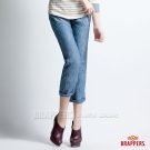 BRAPPERS 女款 Boy Firend Work 系列-女用3D八分反摺工作褲-淺藍