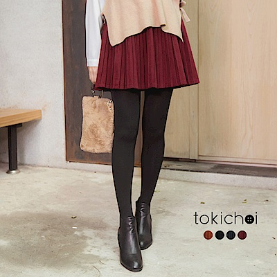 東京著衣 多色輕甜百褶麂皮短裙-S.M(共四色)