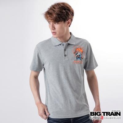 BIG TRAIN 赤青家將家徽POLO衫-男-灰色