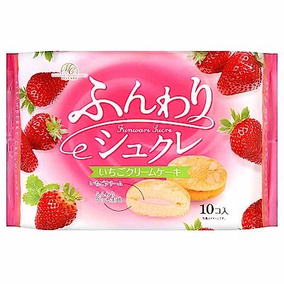 (活動)柿原 鬆軟草莓奶油風味夾心蛋糕 (150g)