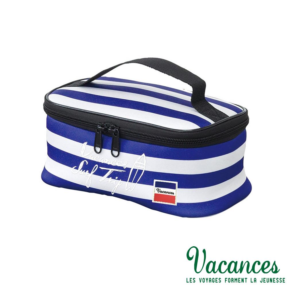 【日本 VACANCES】 日系 輕巧時尚 多功能 海軍藍 保溫 便當袋 / 便攜袋
