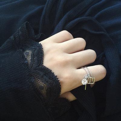 ACUBY 閃鑽方形戒指