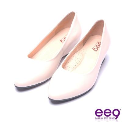 ee9 名媛專屬簡約百搭素面內增高鞋-裸色