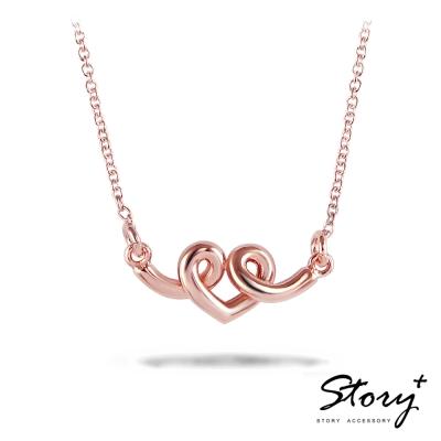 STORY故事銀飾-纏綿的愛 純銀項鍊(玫瑰金)