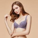 La Felino-甜漾金星3/4加高絲棉款B-F罩杯內衣(迷人紫)
