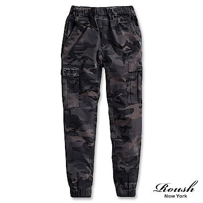 ROUSH 高磅數美式側口袋迷彩束口長褲 (2色)