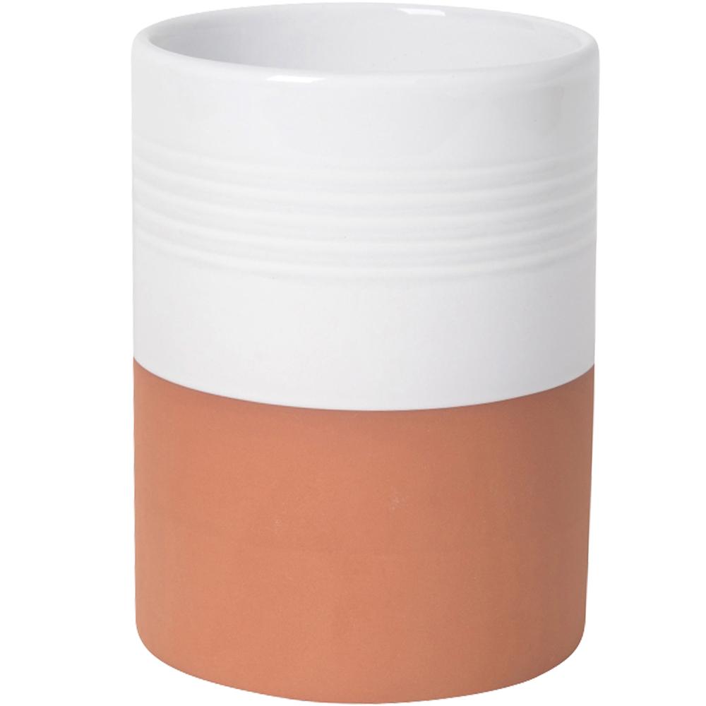 NOW 雙色赤陶餐具鏟匙收納筒(白)