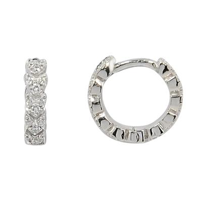 apm MONACO法國精品珠寶 閃耀簡約線條鑲鋯環形耳環