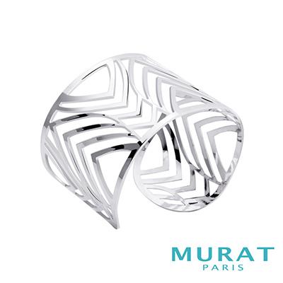 MURAT PARIS米哈巴黎 幾何線條寬版手環