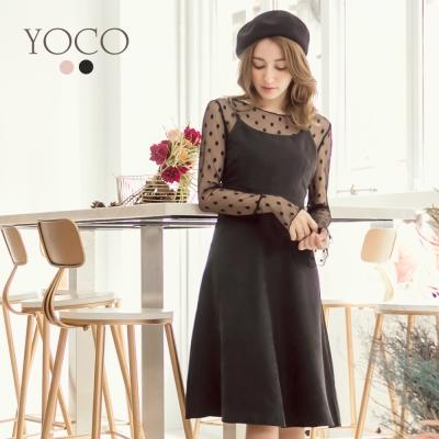 東京著衣-yoco 法式輕甜二件式細肩帶洋裝-S.M.L(共二色)