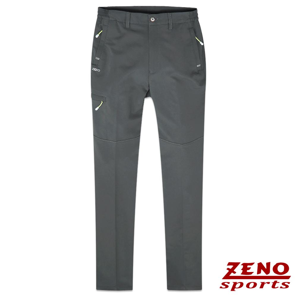 ZENO 抗UV速乾戶外休閒鬆緊長褲‧灰色M~3L
