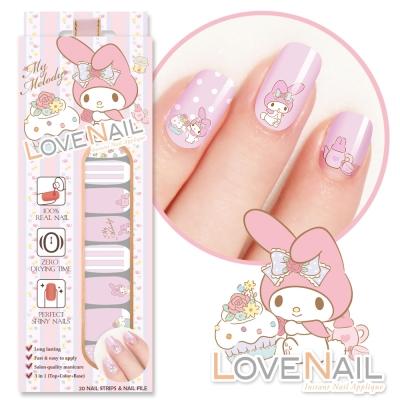 美樂蒂My Melody x LOVE NAIL 限定版指甲油貼-暗戀下午茶