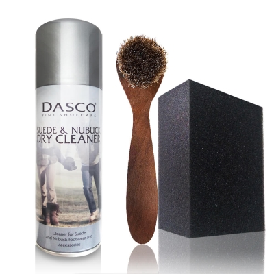 足的美形 英國Dasco複合清潔保養劑+刷.海綿鞋擦組