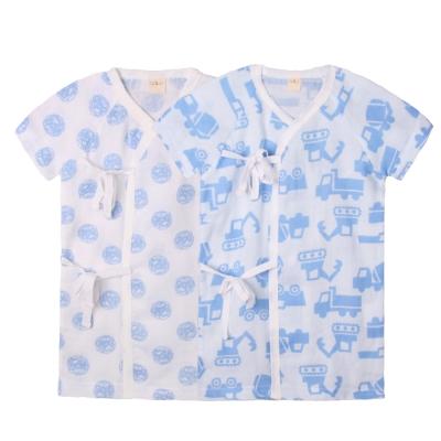 baby童衣-新生兒和尚衣-短袖薄棉長肚衣2件組-51005