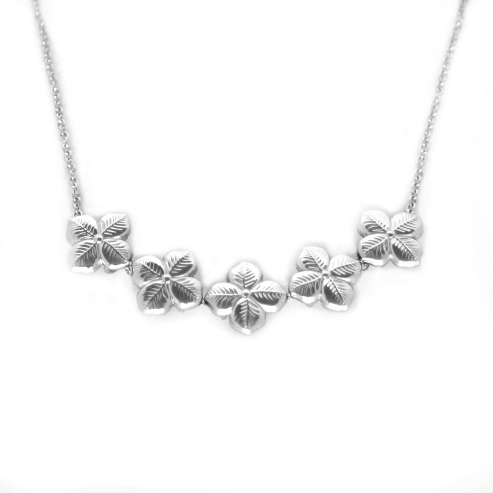 Anna Lou OF LONDON 倫敦品牌 優雅風信子hyacinth花朵銀項鍊