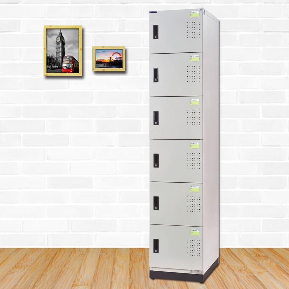 時尚屋 梅爾克多用途鋼製六層置物櫃  寬39x深35x高185cm