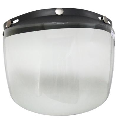 [快]耐磨抗uv安全帽護目鏡-長鏡片-2入