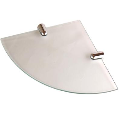 I-Bath衛浴配件-角落專用玻璃平台架(無框)30cm