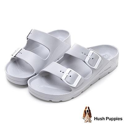 Hush Puppies 巴吉度輕量休閒拖涼鞋-淺灰