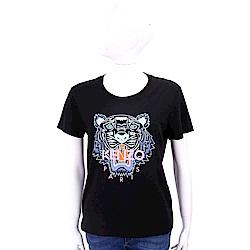 KENZO Tiger 虎頭印花黑色棉質T恤