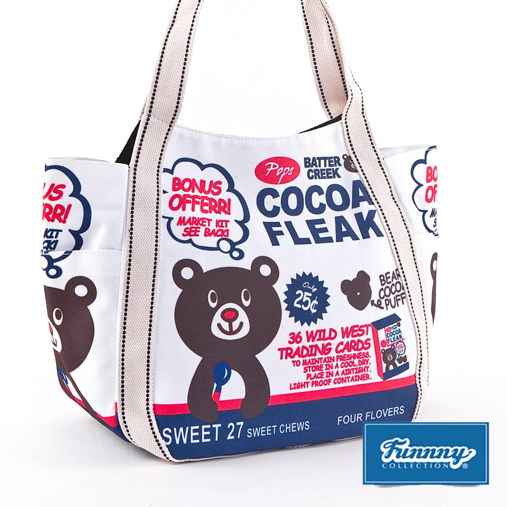 Funnny 日本同步銷售 樂天 經典款帆布包 白色可可熊