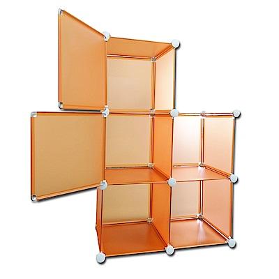媽媽樂 百變創意收納櫃 6格 顏色隨機