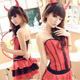 【蘿莉朵】蕾絲小惡魔‧角色扮演制服 (紅)