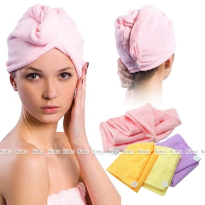 kiret日本神奇吸水-乾髮帽-快乾浴帽2入-極細