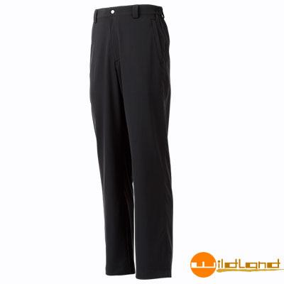 【Wildland 荒野】W1316 男 彈性抗UV休閒長褲 (54黑色)
