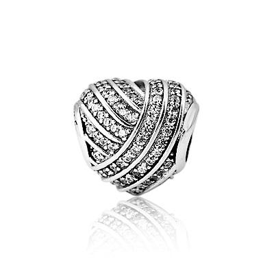 Pandora 潘朵拉 愛情線鑲鋯 純銀墜飾 串珠